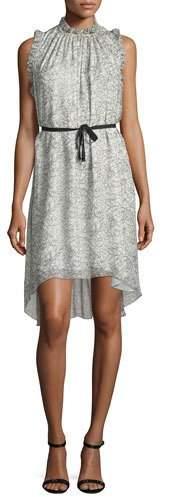 Elie Tahari Balere Ruffle-Trim Silk Dress