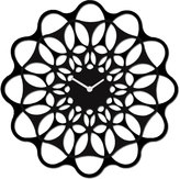 Diamantini Domeniconi Diamantini & Domeniconi & Small Wall clock Black & Black