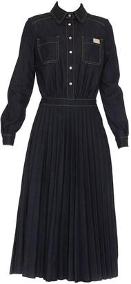 Elisabetta Franchi Pleated Denim Dress