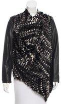 VPL Faux Fur-Accented Draped Jacket
