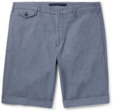 Incotex Stretch-cotton Chambray Shorts