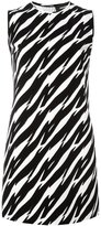 DSQUARED2 zebra print shift dress - women - Cotton/Elastodiene - 38