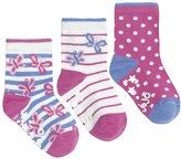 Jo-Jo JoJo Maman Bebe 3 Pack Butterfly Socks (Baby)-Pink-0-6 Months