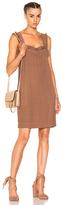 Raquel Allegra Mini Tank Dress in Brown,Neutrals.