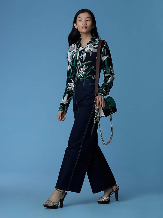 Diane von Furstenberg Long-Sleeve Collared Shirt