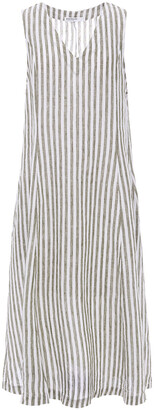 Stateside Striped Linen Midi Dress