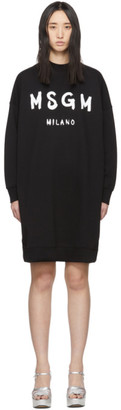 MSGM Black Milano T-Shirt Dress