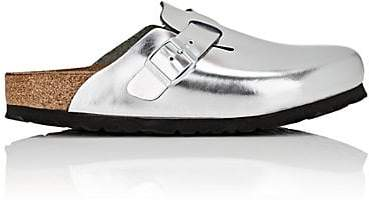 Birkenstock WOMEN'S BOSTON METALLIC LEATHER CLOGS
