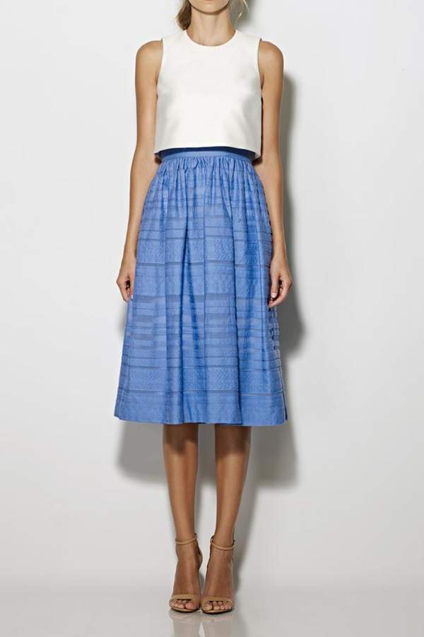 Cynthia Rowley Popover Tea-Length Dress