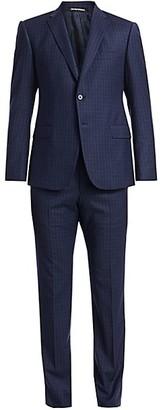 Emporio Armani Wool Wiindowpane Suit