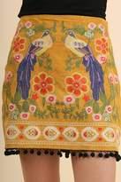 Umgee USA Suede Embroidered Skirt
