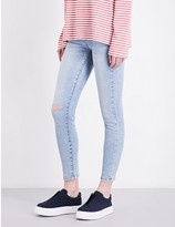 Current/Elliott The Stiletto cropped high-rise jeans