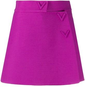 Valentino V-logo A-line mini-skort