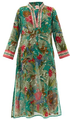 Le Sirenuse, Positano - Giada Ranthambore Tiger-print Cotton Tunic Dress - Green Print