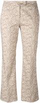 Incotex 3D print cropped trousers - women - Cotton/Spandex/Elastane - 40