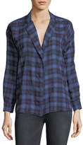 3x1 Moxy Plaid Cotton Wrap Shirt