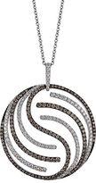 LeVian Diamond, Chocolate Diamond And 14K White Gold Pendant Necklace, 2.95 TCW