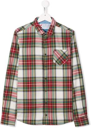 MC2 Saint Barth Kids TEEN tartan print shirt