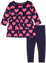 Gerber 2 Piece Dress With Leggings (Baby) - Hearts - 18 Months