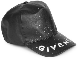 Givenchy Leather Logo Baseball Cap