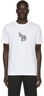 Paul Smith White Zebra Halo T-Shirt