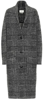Etoile Isabel Marant Elayo checked wool-blend coat