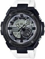 G-Shock Men's Analog-Digital G-Steel White Resin Strap Watch 52x59mm GST210B-7A