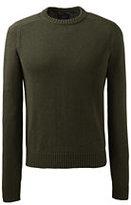 Lands' End Men's Big & Tall Drifter Cotton Crewneck Sweater-Sweet Persimmon
