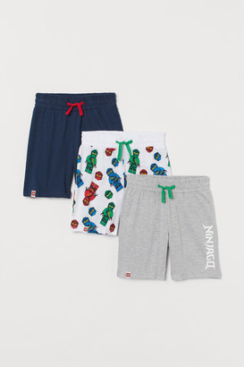 H&M 3-pack Jersey Shorts - White