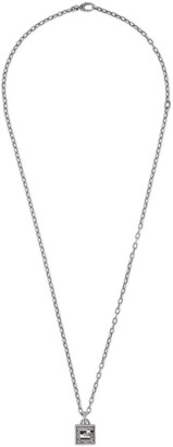 Gucci Necklace with Square G cross in silver
