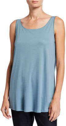Eileen Fisher Long Interlock Scoop-Neck Tank