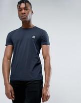 BOSS ORANGE by Hugo Boss Logo T-Shirt Slim Fit in Navy