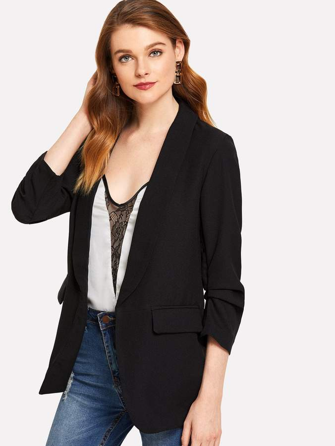 14c3e51d8389 Black Blazer With White Collar - ShopStyle