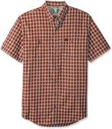 G.H. Bass Men's Big-Tall Short Sleeve Fancy Explorer Small Plaid Shirt, Neutral Grey