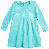 Urban Smalls Aqua Snowflake A-Line Dress - Toddler & Girls
