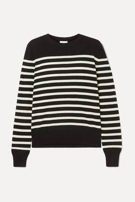 Saint Laurent Striped Cashmere Sweater - Black