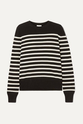 Saint Laurent Striped Cashmere Sweater - Black
