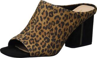 Via Spiga Womens Hennie Toffee Black Slides 9.5 M