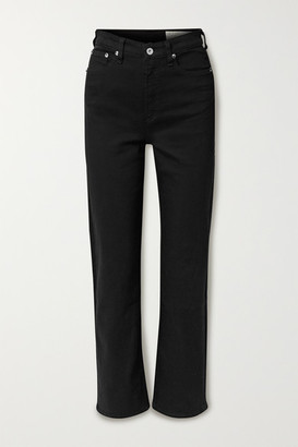 Rag & Bone Jane Super High-rise Straight-leg Jeans - Black