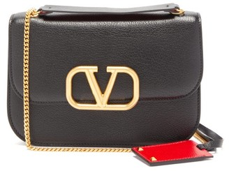 Valentino V-lock Small Leather Cross-body Bag - Womens - Black