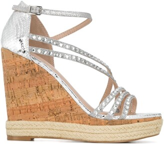 Carvela Kingsize embellished wedges