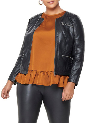 ONLY Carmakoma Faux Leather Jacket