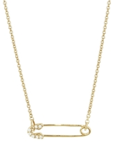 Sydney Evan 14K Small Diamond Safety Pin Necklace
