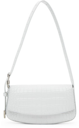 Balenciaga White Croc Ghost Sling Bag