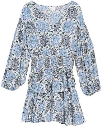 Dee Elly Patterned Long Sleeve Dress