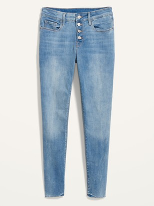 Old Navy Mid-Rise Rockstar Super Skinny Button-Fly Ankle Jeans for Women