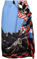 Emilio Pucci Asymmetric Ruffled Cady Skirt