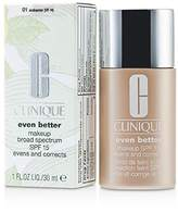 Clinique Even Better Makeup SPF15 (Dry Combination to Combination Oily) - No. 01/ CN10 Alabaster - 30ml/1oz