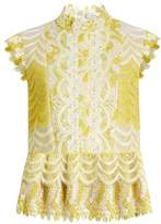 Erdem Sam degradé guipure-lace blouse
