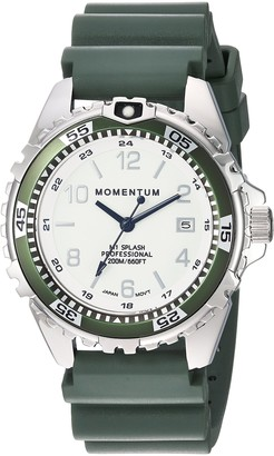 Momentum Womens Quartz Watch | M1 Splash by Momentum| Stainless Steel Watches for Women | Dive Watch with Japanese Movement & Analog Display | Water Resistant ladies watch with Date Lume / Khaki Rubber